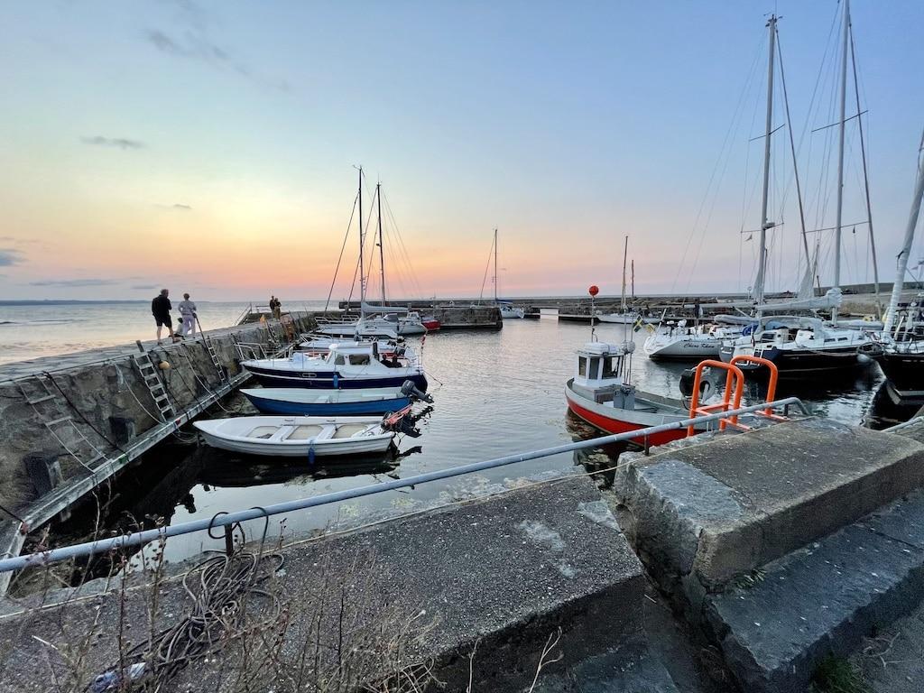 Nørresand Havn i Gudhjem på Bornholm